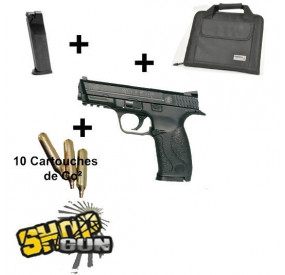 Pack Smith&Wesson M&P 40 culasse métal CO2 0.9 J
