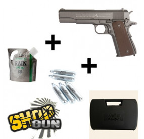 Pack Colt 1911 A1 100TH anniversary CO2 - Full Kit