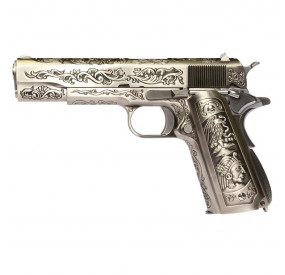 M1911 Floral Pattern métal Blowback gaz - WE
