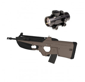 Pack FN F200 Dark Earth AEG + Point rouge