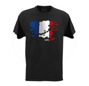 T-Shirt Noir France Full Color LPT Taille S