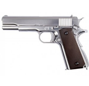 M1911 Chromé métal blowback gaz - WE
