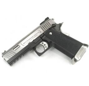 Hicapa 4.3 style Salient Arms International Chromé Métal Blowback Gaz - WE