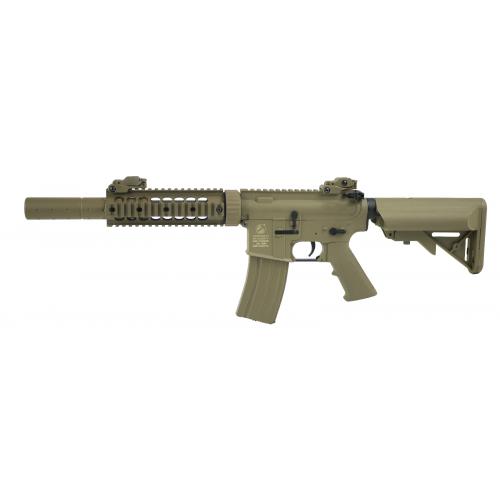 Colt M4 Nylon fibre garde main métal Silent ops TAN 1,2 J