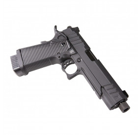 PISTOLET CO2 BLOW BACK LUDUS VI NOIR SECUTOR + COMPENSATEUR BLACK