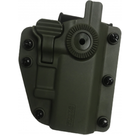 Holster rigide CQC 360° ADAPT-X ambidextre UNIVERSEL OD GREEN - LEVEL 2