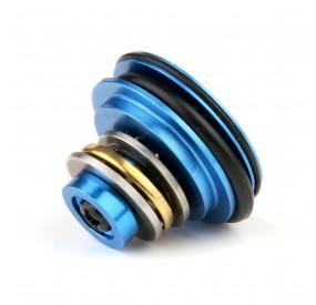 Tête de piston aluminium bleu 8 trous