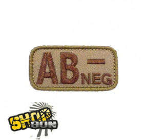 Patch velcro groupe sanguin AB- Desert