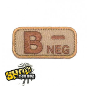 Patch groupe sanguin B- DE