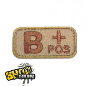 Patch groupe sanguin B+ DE