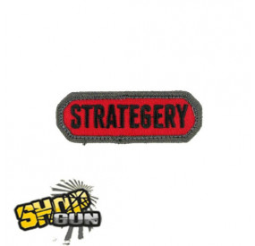"Patch velcro ""Strategery"" rouge"