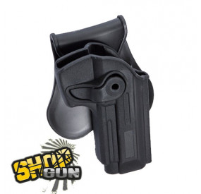 Holster droit paddle rotation 360° M9-A1, PT99, M92