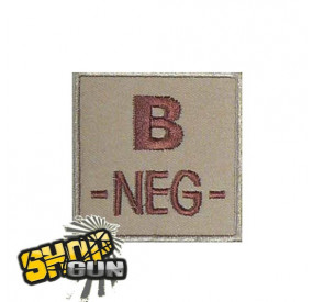 Patch velcro groupe sanguin B- tissu Coyote