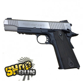 Colt 1911 rail gun black/silver Fullmetal Blowback CO²