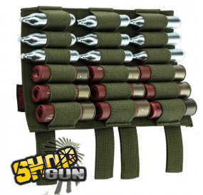 Pochette Support 18 Cartouches Pompe ou Co² OD Green